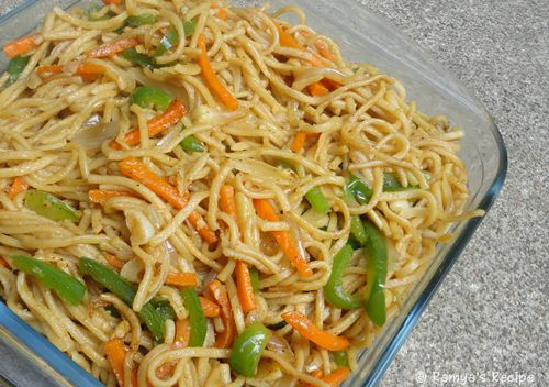 Ramyas recipe veg noodles and chilly chicken veg noodles and chilly chicken forumfinder Choice Image