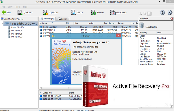 keys full of the download version recover