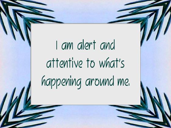 AWARENESS affirmation