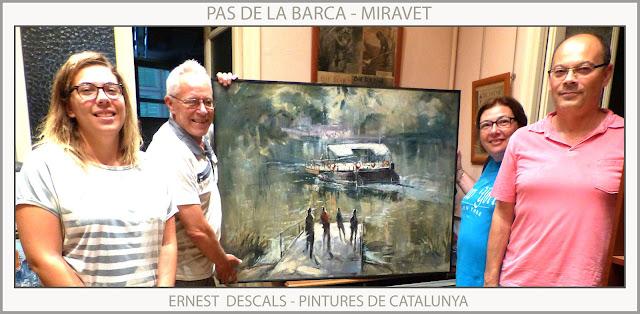 PAS DE LA BARCA-MIRAVET-PINTURA-PAISATGES-CATALUNYA-TARRAGONA-PINTURES-ARTISTA-PINTOR-ERNEST DESCALS-