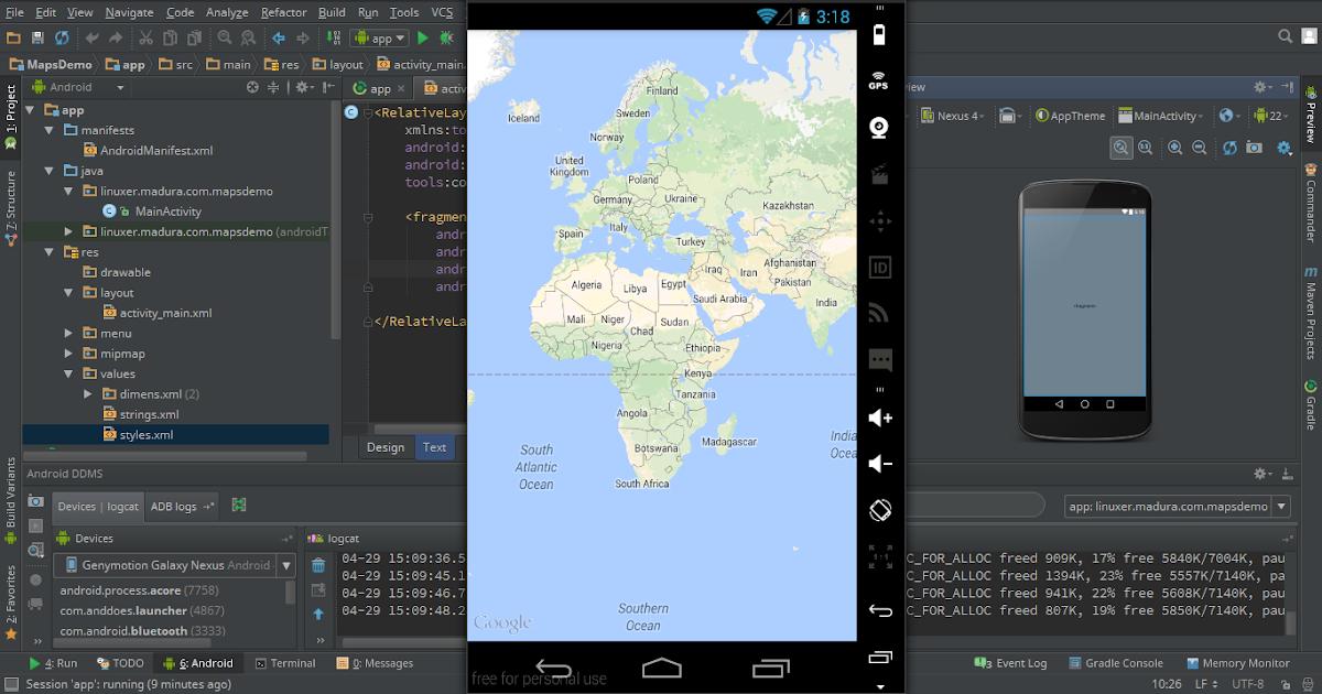 ... Telekomunikasi, dan Komputer: Menampilkan Google Map di Android Studio