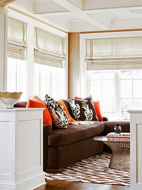 decorology roman blinds in the living room