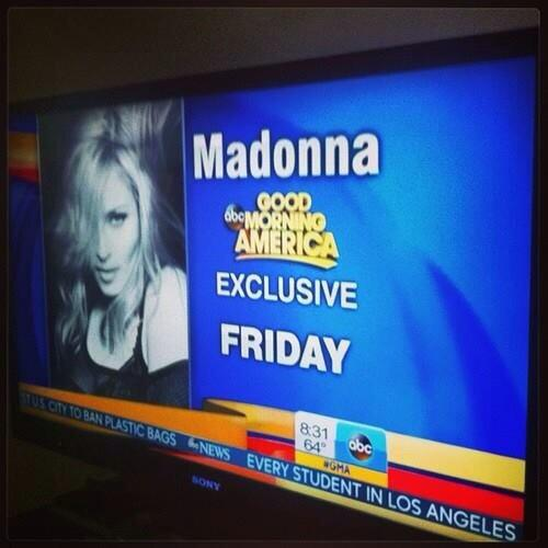 Good Morning America How Are Ya : †mdna news† este viernes estarÁ madonna en good morning