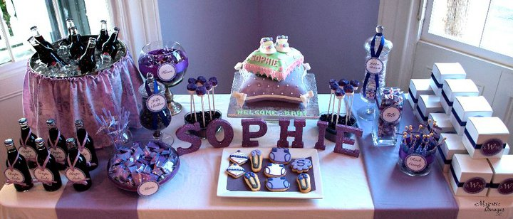 purple baby shower themes