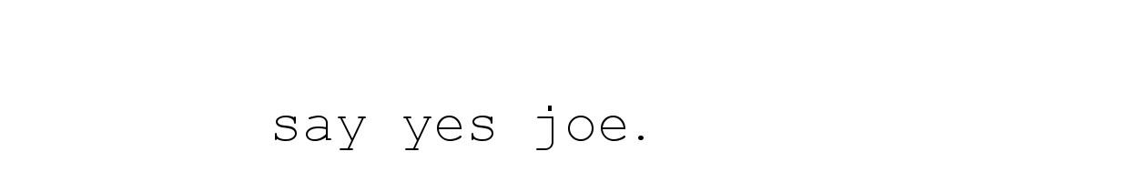 Say Yes Joe