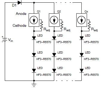 LED Torch using NSI45090JDT4G Constant Current Regulator