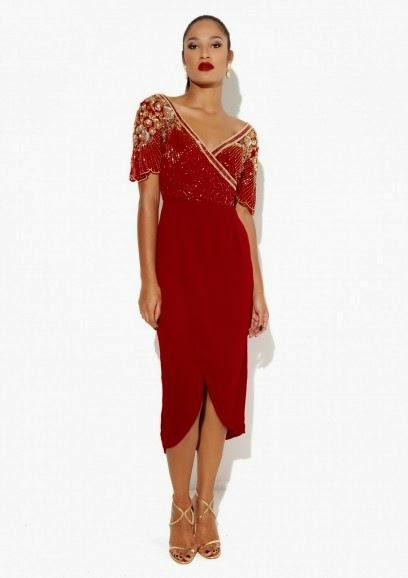 Virgos Lounge midi red dress