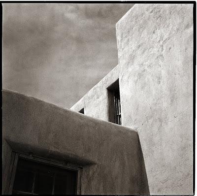 Taos Pueblo - Black and White