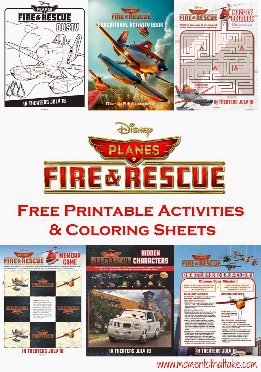 Planes: Fire & Rescue Coloring Pages and Crafts