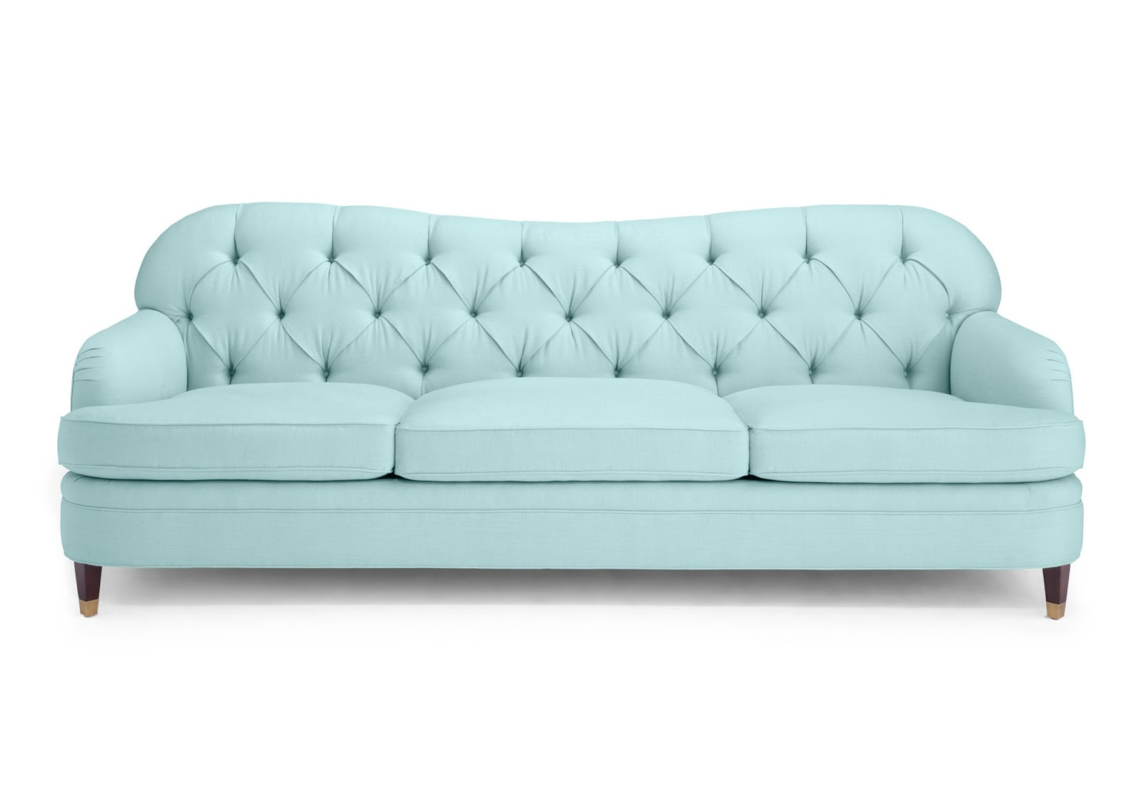 Baby Blue Tufted Drake Sofa Couch From Kate Spade