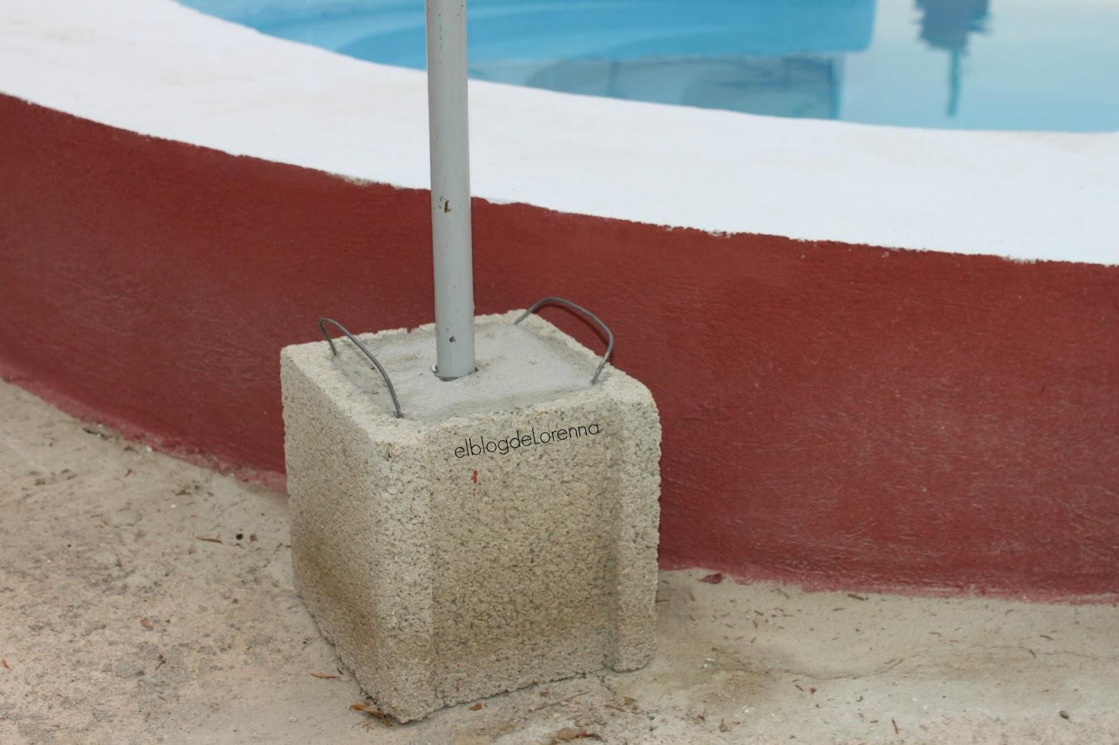 El blog de lorenna base para la sombrilla - Como hacer un suelo de hormigon ...
