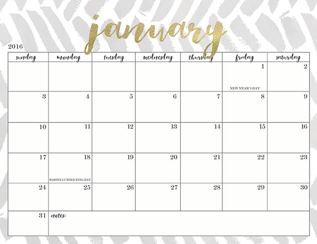2016 Printable Calendar Waterproof Paper   Calendar Template 2016