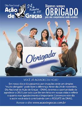 24 / NOVEMBRO - DIA NACIONAL DE AÇÃO DE GRAÇAS