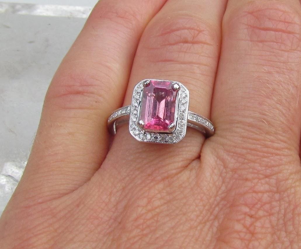 Pink Saphire Wedding Rings 001 - Pink Saphire Wedding Rings