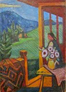 Маргит Сельская, На веранде, 1966