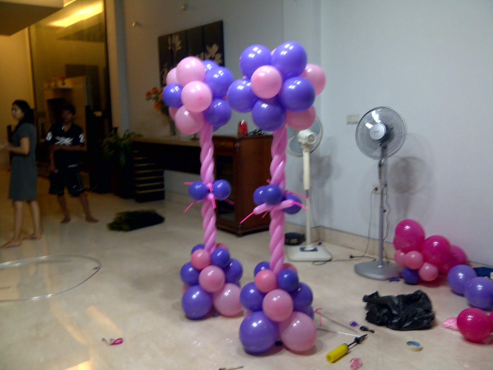 Dekorasi balon dekor ultah keysha for Dekor ulang tahun