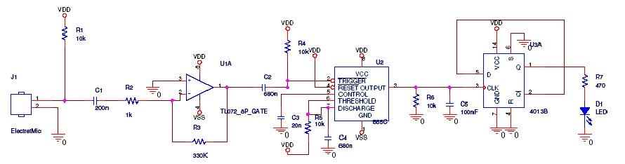 Circuito Eletronico : Do eletronico circuito eletrônico sensor de palmas