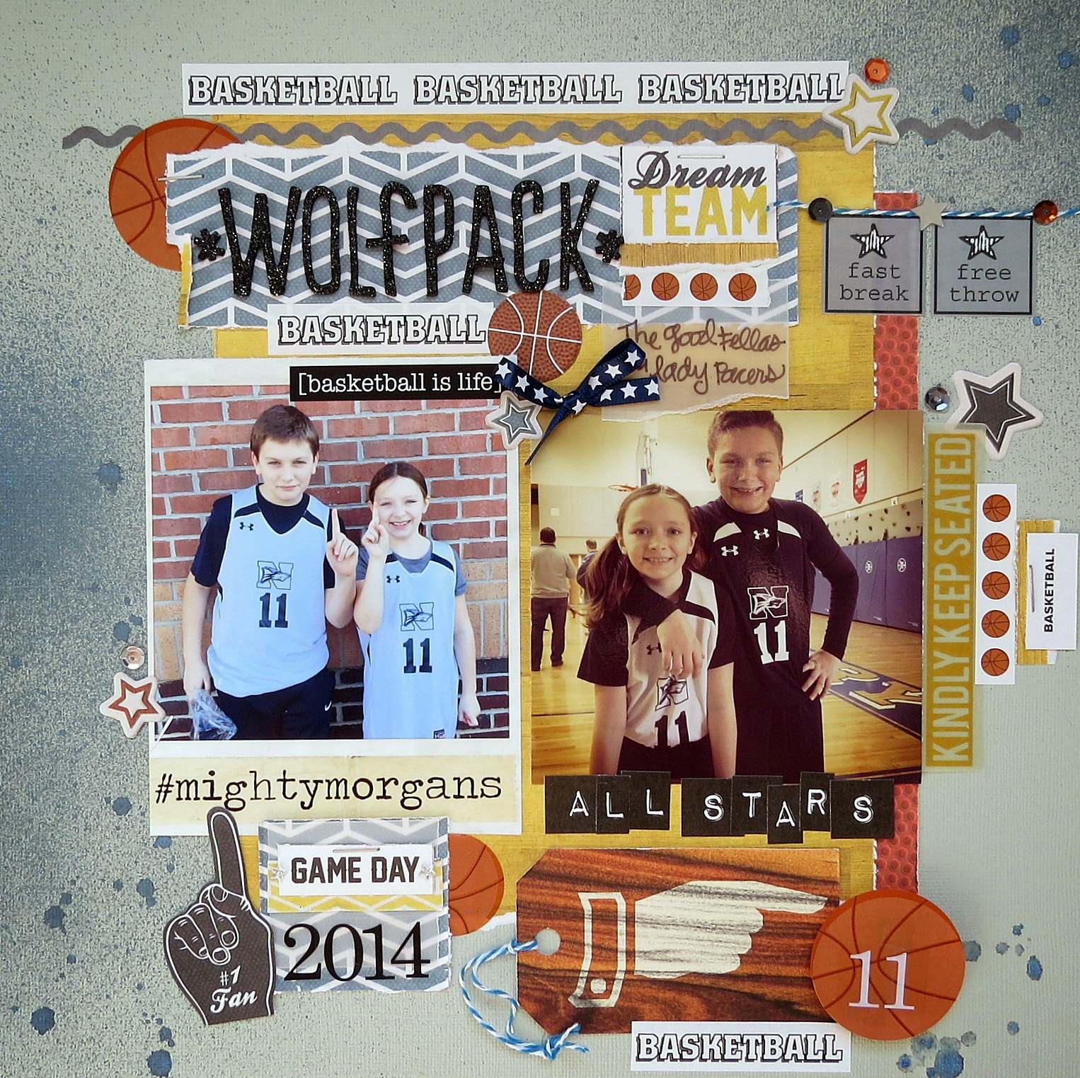 SRM Stickers Blog - Basketball is Life by Shannon - #layout #basketball #sports #stickers
