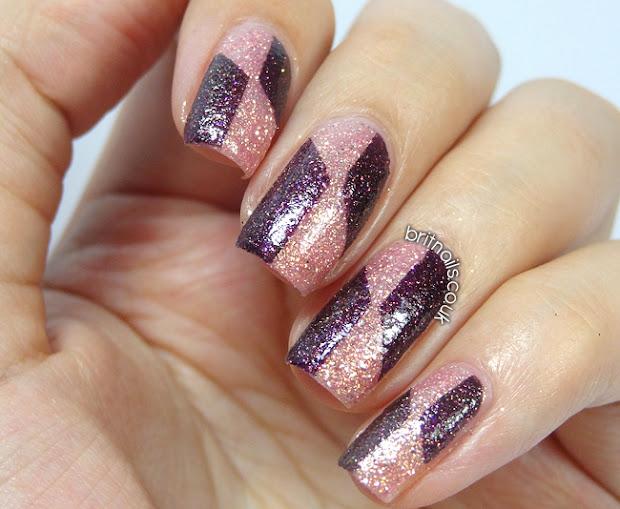 barry royal glitter nail art