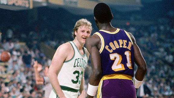 the 1985 championship game between the los angeles lakers and the boston celtics • before that, the same two teams reaching the finals in consecutive years hadn't happened since the boston celtics and los angeles lakers did it in 1984 and 1985.