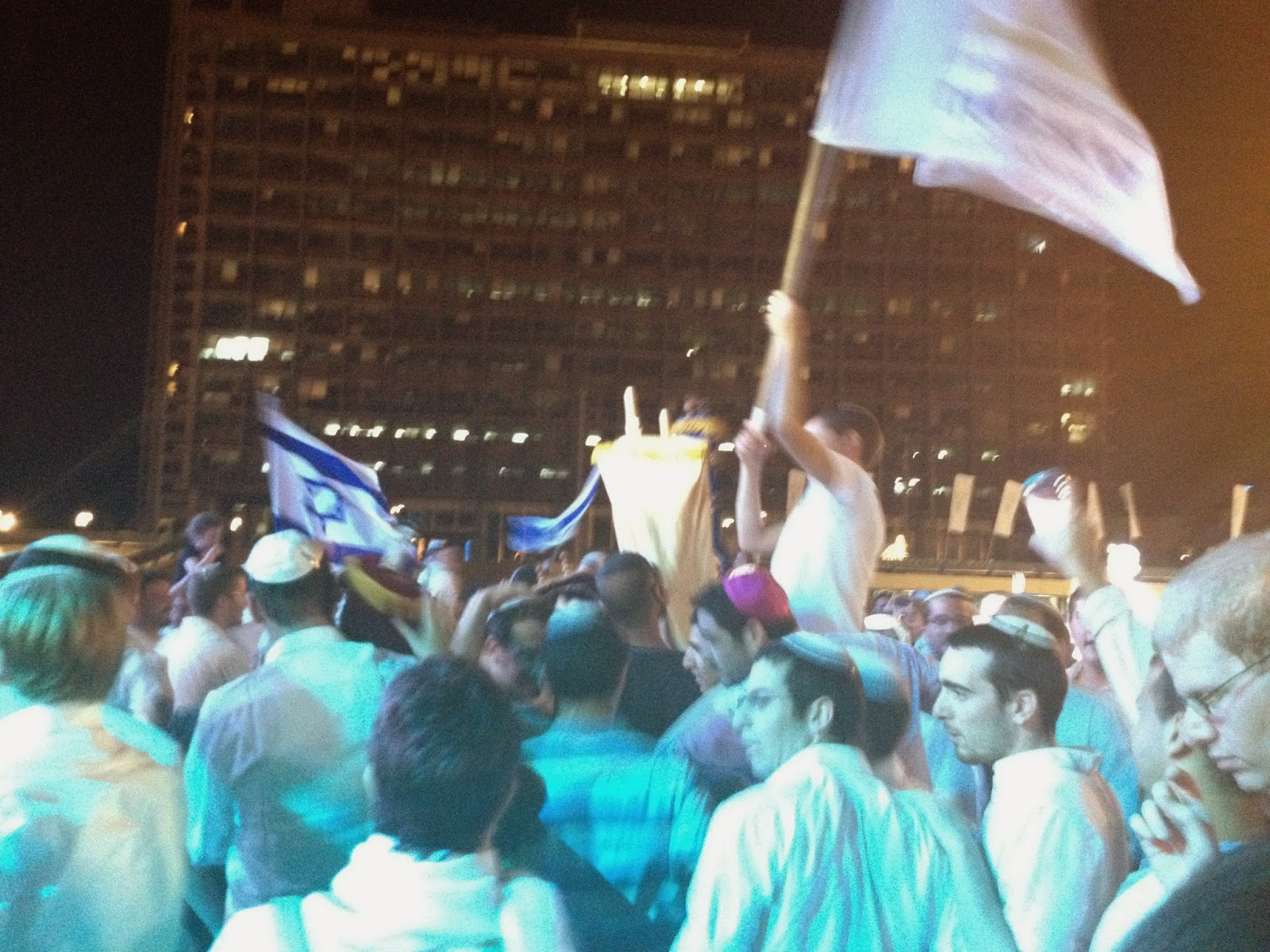 Simchat Torah celebrations in Tel Aviv this evening