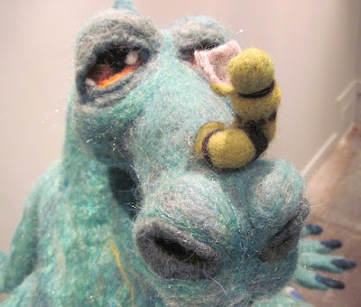 "Detail in ""Bedtime for Dragon"" created in felt by Kathy Batdorf"