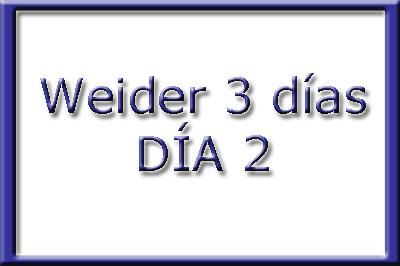 Rutina weider de 3 días - Día 2