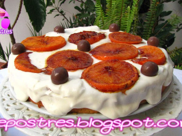 Pastel de naranja y chocolate