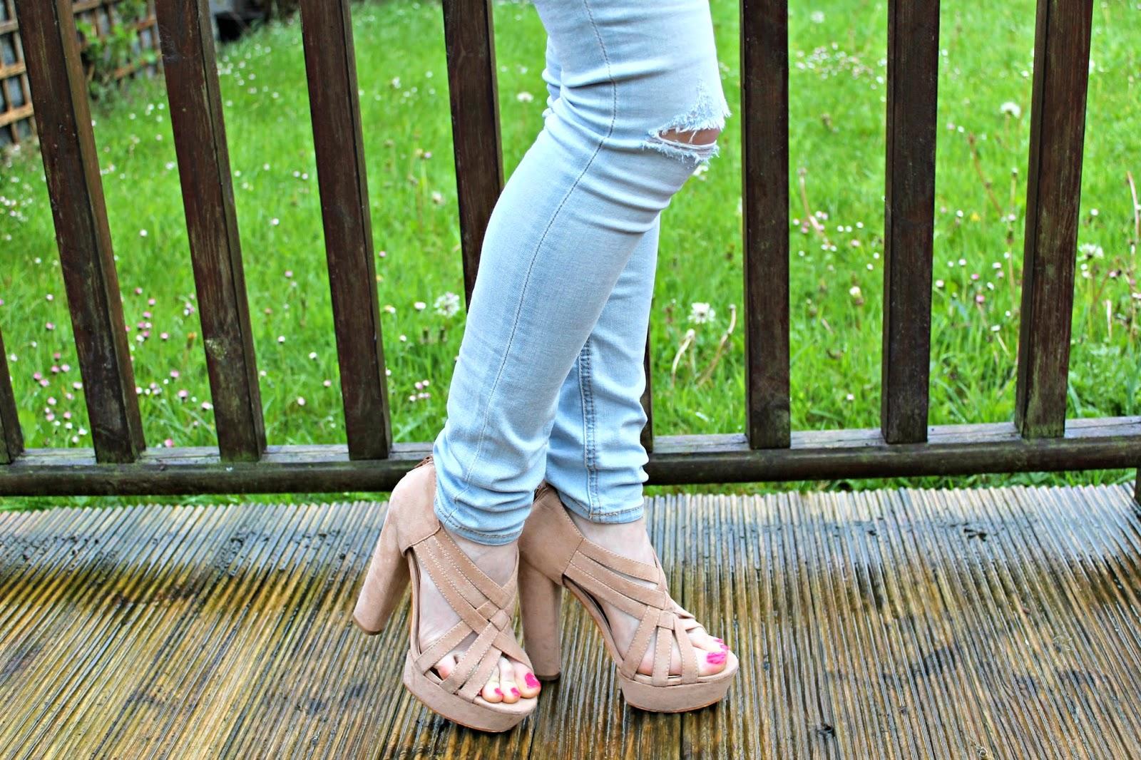 Bec Boop nude sandals