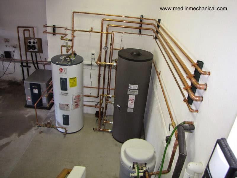 Equipos instalados para calefacción geotérmica