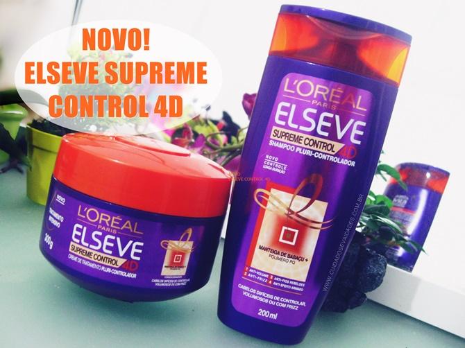 Shampoo e Máscara Elseve Supreme Control 4D