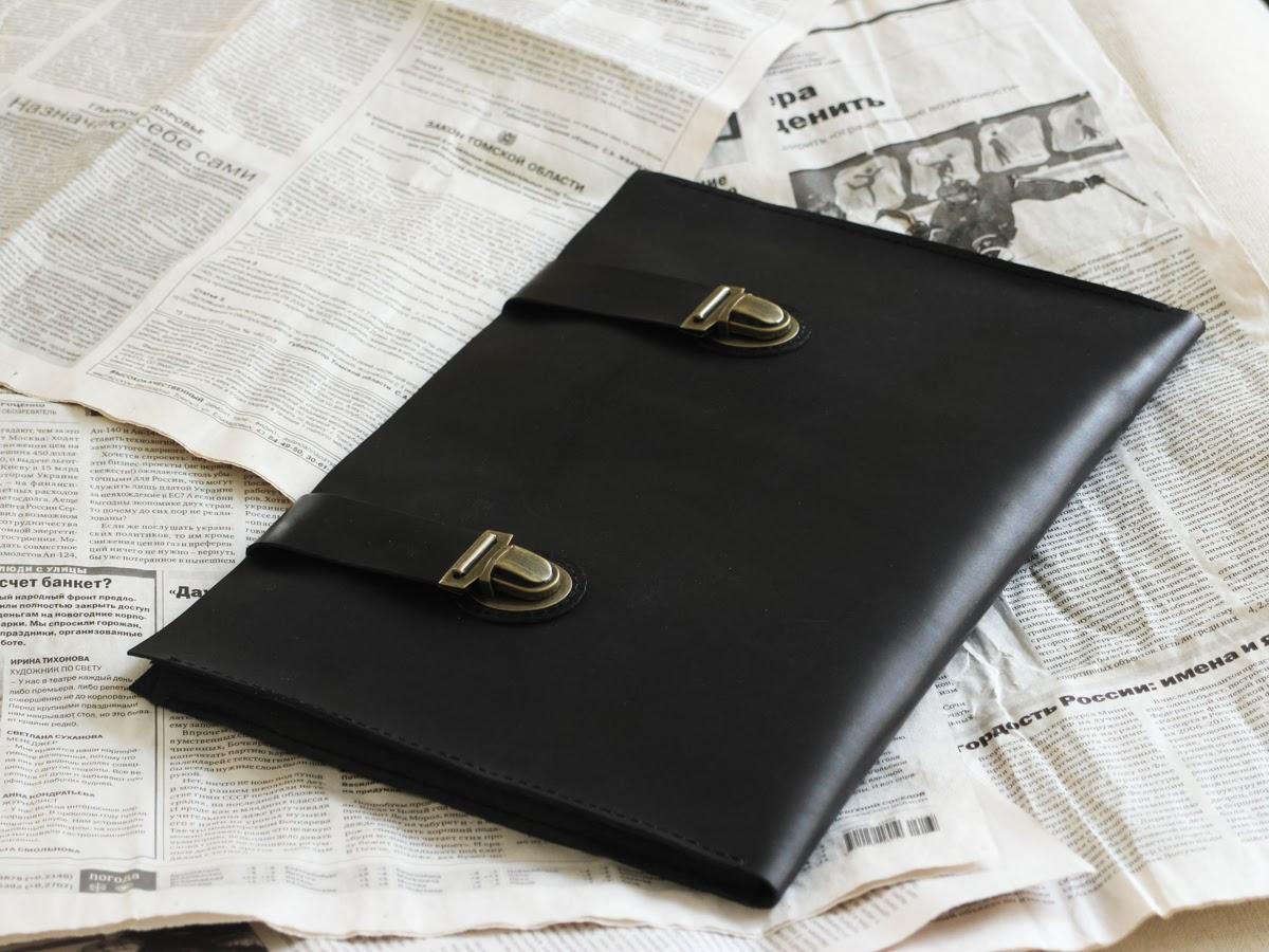 Папка для ноутбука из натуральной итальянской кожи