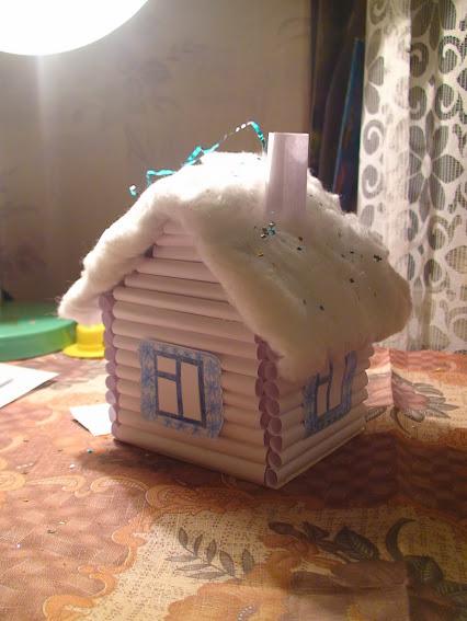 Сделать дом деда мороза