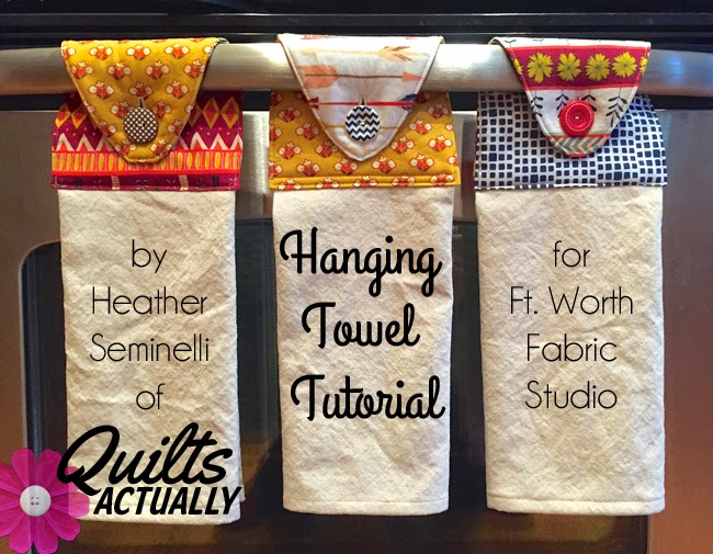 Fort worth fabric studio - Hanging kitchen towel tutorial ...