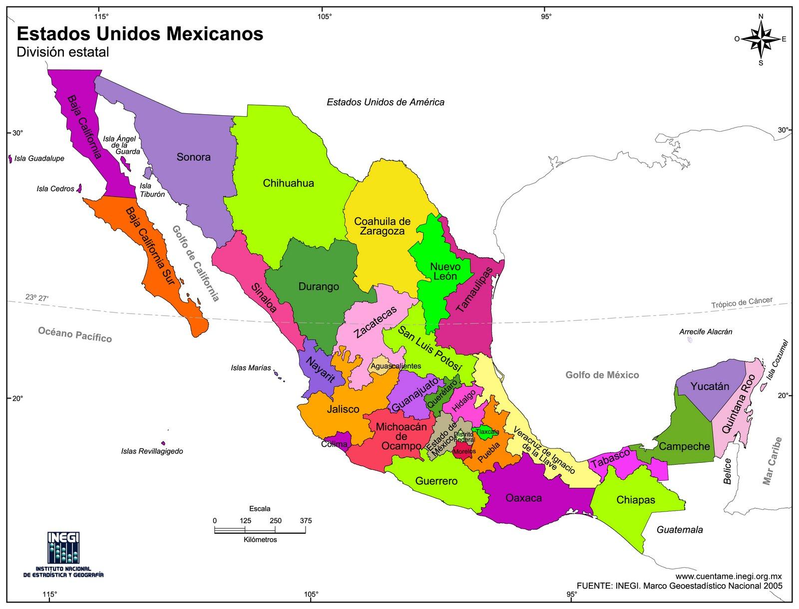Mapa De America Con Todos Sus Paises