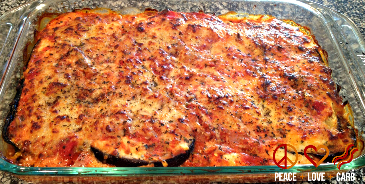 Eggplant Lasagna with Meat Sauce - Low Carb, Gluten Free | Peace Love ...