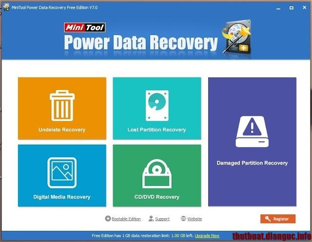 Download MiniTool Power Data Recovery 7.0.0.0, phần mềm khôi phục dữ liệu ổ đĩa