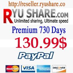 Buy Ryushare Premium 730 Days via Paypal