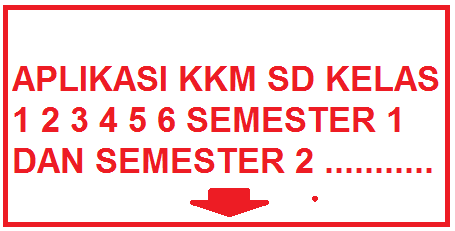 Download Aplikasi KKM Kelas 1 2 3 4 5 6 Gratis Sangat Bermanfaat Untuk Pembuatan KKM Secara Cepat