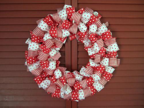 Hacer una guirnalda navide a con tela manualidades - Guirnaldas navidad manualidades ...