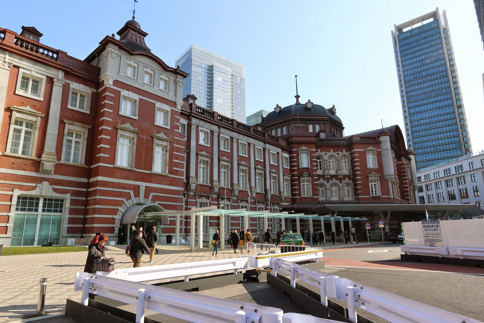 Walking to the other end of Tokyo Station which is quieter than the main operation side of Tokyo Station with trains coming from Tokyo Metro and JR lines in Japan