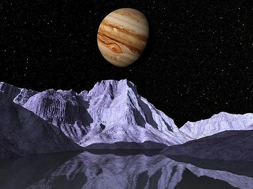 Europa, luna de Júpiter, uno de los mayores candidatos a albergar vida dentro del sistema solar