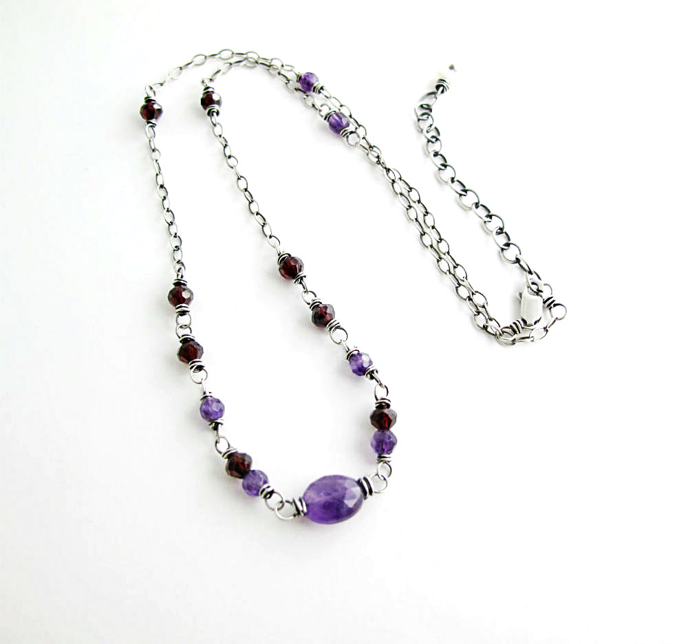Eros and Pysche One of a Kind Birthstone Necklace by Beth Hemmila of Hint Jewelry