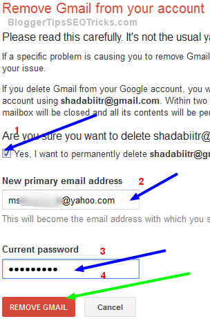 How To Permanently Delete Gmail, Youtube, Blogger, Google Accounts