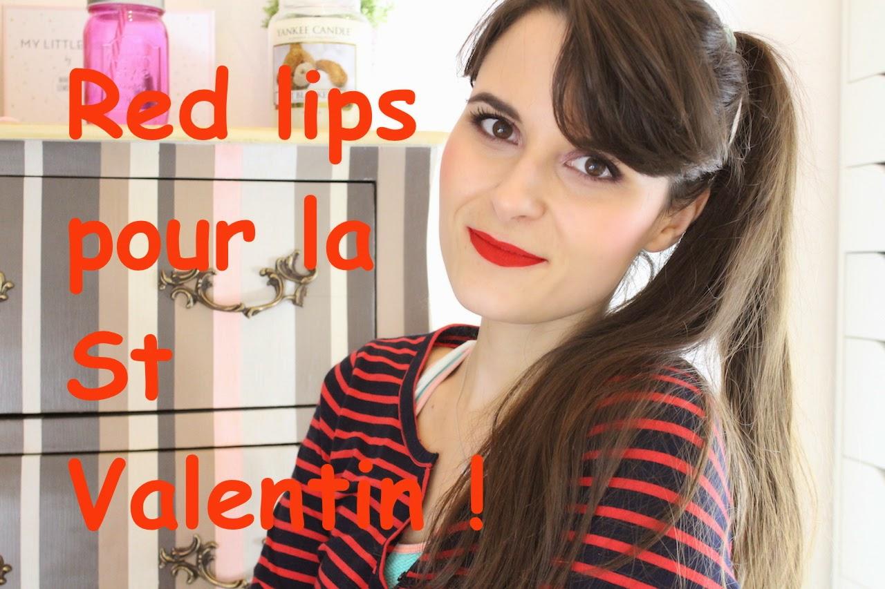 Red Lips Pour La St Valentin Beyoutiful
