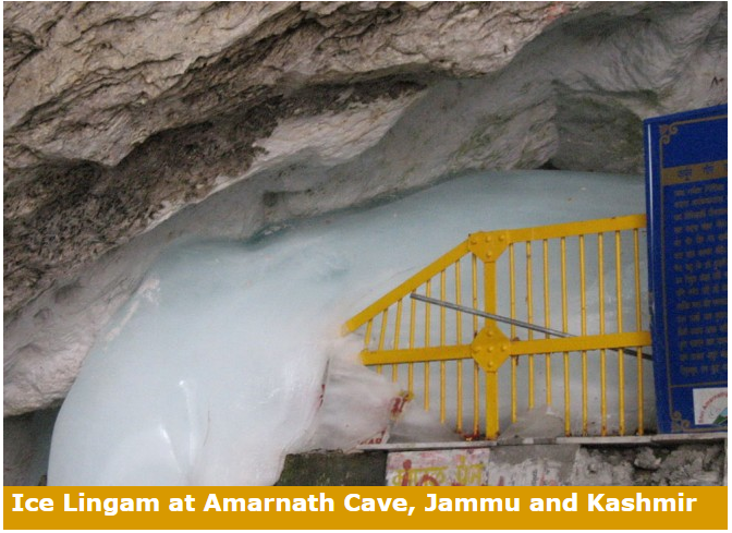 Amarnath Cave Temple in Jammu & Kashmir