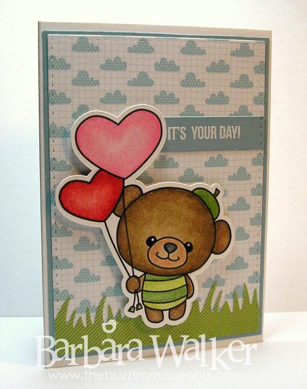 The Buzz Amigurumi Bear Birthday Card
