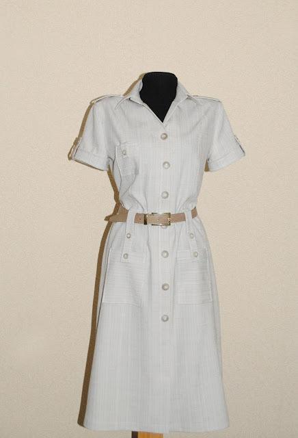 Платье в стиле сафари выкройки