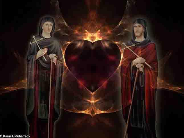 صور القديسان مكسيموس ودوماديوس من تصميم الراهب القمص كاراس المحرقي