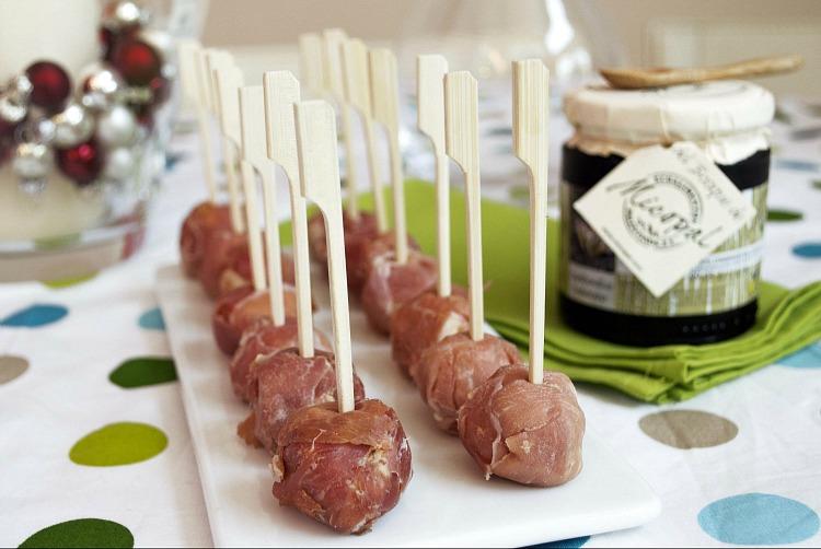 cómo hacer bombones de foie y jamón